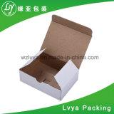 백색 물결 모양 판지 상자