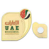 Enamel Gold Plastic Button Badge with Magnet Manufacturer Necklace Number Name Tag