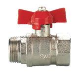 Messingkugelventil mit Aluminiumbasisrecheneinheitsgriff (NV-2014 ALU M*F)