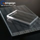 Hoja de acrílico transparente para la fabricación del panel de la puerta