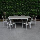 [مينيمليست] وقت فراغ حديقة أثاث لازم خشبيّة معدن كرسي تثبيت [بولووود] ألومنيوم مطعم كرسي تثبيت طاولة مجموعة