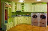Traditioneller weißer festes Holz-Küche-Schrank-amerikanischer Küche-Entwurf