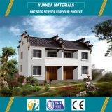 Camera prefabbricata prefabbricata della villa della struttura d'acciaio dell'indicatore luminoso delle case