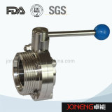 Нержавеющая сталь Санитарная Руководство круглая ручка клапан-бабочка (JN-BV1001)
