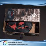 Gewölbtes Papier-Fach-Verpackungs-Geschenk-Kleid-Kleidung-Schuh-Kasten (xc-aps-012)