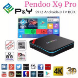 Cadre 17.0 de Kodi TV de l'androïde 6.0 du faisceau 2g 16g Pendoo X9 d'Amlogic S912 Kodi Octa PRO