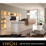2 PACの光沢の水晶ベンチの上(AP103)が付いている白い台所家具