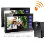 """7 """" TFT 2.4G drahtloses videotür-Telefon-Türklingel-Wechselsprechanlage-Eintrag-System"""