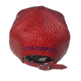 عالة تطريز أحمر [بو] جلد مسطّحة [بيلّ] [سنببك] غطاء قبّعة