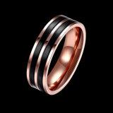 Jóias de cor Duplo Simples anel de aço inoxidável para homens o anel de aço inoxidável