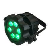 Openlucht maak de 6 In werking gestelde Draadloze LEIDENE van het Lithium LEDs Batterij Projector van het PARI met 6in1 Partij van de Gebeurtenis van het Stadium van de Kleuren van Rgabw de UV waterdicht