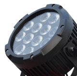 LEDの同価ライトのための小型LEDプロジェクター12PCS RGBWA紫外線IP65飛行ケース