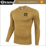 Combate del Ejército de tácticas militares de traje caliente ropa interior térmica Shirt
