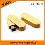 Movimentação de madeira do flash do USB da forma do giro