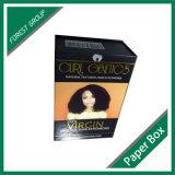 Caixa de empacotamento da extensão feita sob encomenda do cabelo da impressão de cor cheia