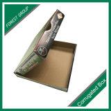 Custom Color Verde Impresión totalmente corrugado caja de pizza