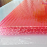 Bayer / Lexan material 6mm-12mm Espesor de la hoja de PC Honeycomb Sun