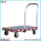 Carretilla de aluminio de la mano con el carro de mano plegable de la plataforma de la maneta
