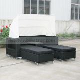 Mtc-126 Salão Rattan ao ar livre Daybed Lounge com Sun Unbrella
