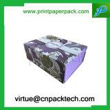 Rectángulo de empaquetado de papel modificado para requisitos particulares de la cubierta de la cartulina del regalo de una sola pieza de la joyería