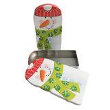 도매 승진 선물 크리스마스를 포장하는 눈사람 모양 주석 상자