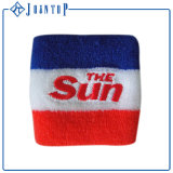 Sweatbands выдвиженческих спортов атлетические с логосом вышивки Customed