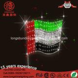 LED-RGB 10W Seil-Zeichenkette-Licht Markierungsfahnen-Pole-Mittlerer Osten Europa für nationale Dekoration