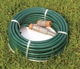 a camada dobro de 30m (100 ') reforçou a mangueira da água do jardim do PVC com a linha trançada do poliéster