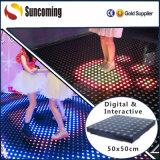 Diodo emissor de luz interativo ao ar livre Dance Floor do parque IP65 do entretenimento