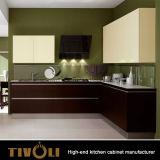 De eenvoudige Kleine Keukenkasten van de Ideeën van het Meubilair van de Keuken voor het Project tivo-0028V van de Flat