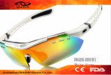 Occhiali di protezione di riciclaggio di vendita caldi dell'obiettivo esterno del rivestimento UV400 del commercio all'ingrosso 2016 che ciclano gli occhiali da sole di sport con l'obiettivo intercambiabile 5