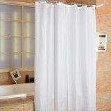 Tenda di acquazzone impermeabile bianca pura della stanza da bagno del tessuto del poliestere (04S0014)