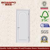 シンプルな設計の白いペンキMDF内側部屋のドア(GSP8-034)