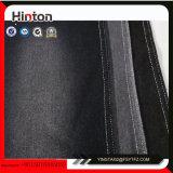 黒いカラー150d編むデニムのポロシャツファブリック