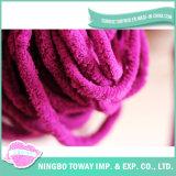 Venda de desconto barato fios pintados à mão de microfibras de tricotar