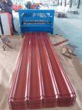 着色された上塗を施してある電流を通された波形鉄板の屋根ふき版の金属の屋根ふきシート