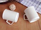 عالة [كفّ موغ] بيضاء خزفيّة مع مقبض مربّعة
