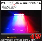 4 de LEIDENE Oppervlakte zet het Lichte HoofdLicht van de Waarschuwing op