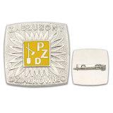 Pin di barra di alluminio dell'esercito del metallo della sagola di plastica di rame in lega di zinco del distintivo