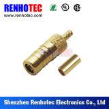 Connecteur Gold-Plated de la fiche rf SMB pour le câble