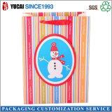 Kraft branco feito sob encomenda Craft os sacos de papel do presente do Feliz Natal