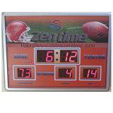 Horloge numérique électrique à LED bleue avec affichage de la température et du calendrier