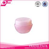 PPのスキンケアのためのプラスチック空の円形の装飾的な包装のクリーム色の瓶の容器