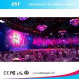 P6.25 Indoor 500 x 500 mm Affichage LED de location de contraste élevé et uniforme de mur vidéo LED