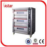 Four de gaz de plateau du paquet 4 d'Astar 2, four industriel de traitement au four pour le pain