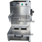 Máquina neumática del lacre de la bandeja del alimento