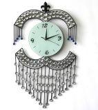 Hermoso cristal de hierro forjado técnica de reloj de pared para la decoración