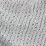 Tissu 100% frais de polyester de contact de maille de Knit teint par modèle d'été