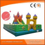 子供の娯楽(T6-029)のための弾力がある城を跳ぶ巨大なマンガのキャラクタ