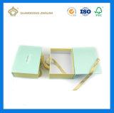 Boîte-cadeau de papier estampée par couleur de luxe de forme de livre avec le Closing de noeud de bande (usine de la Chine)